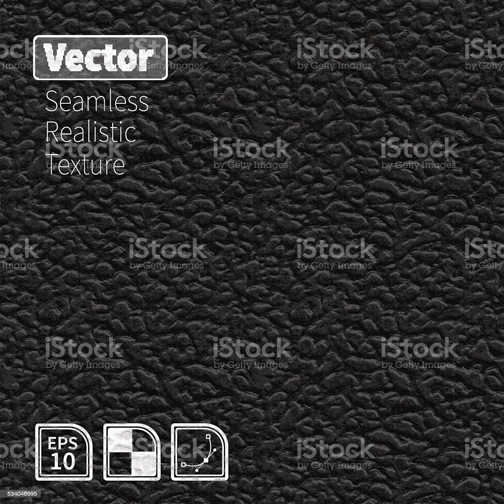 Black vector seamless realistic leather texture. vector art illustration