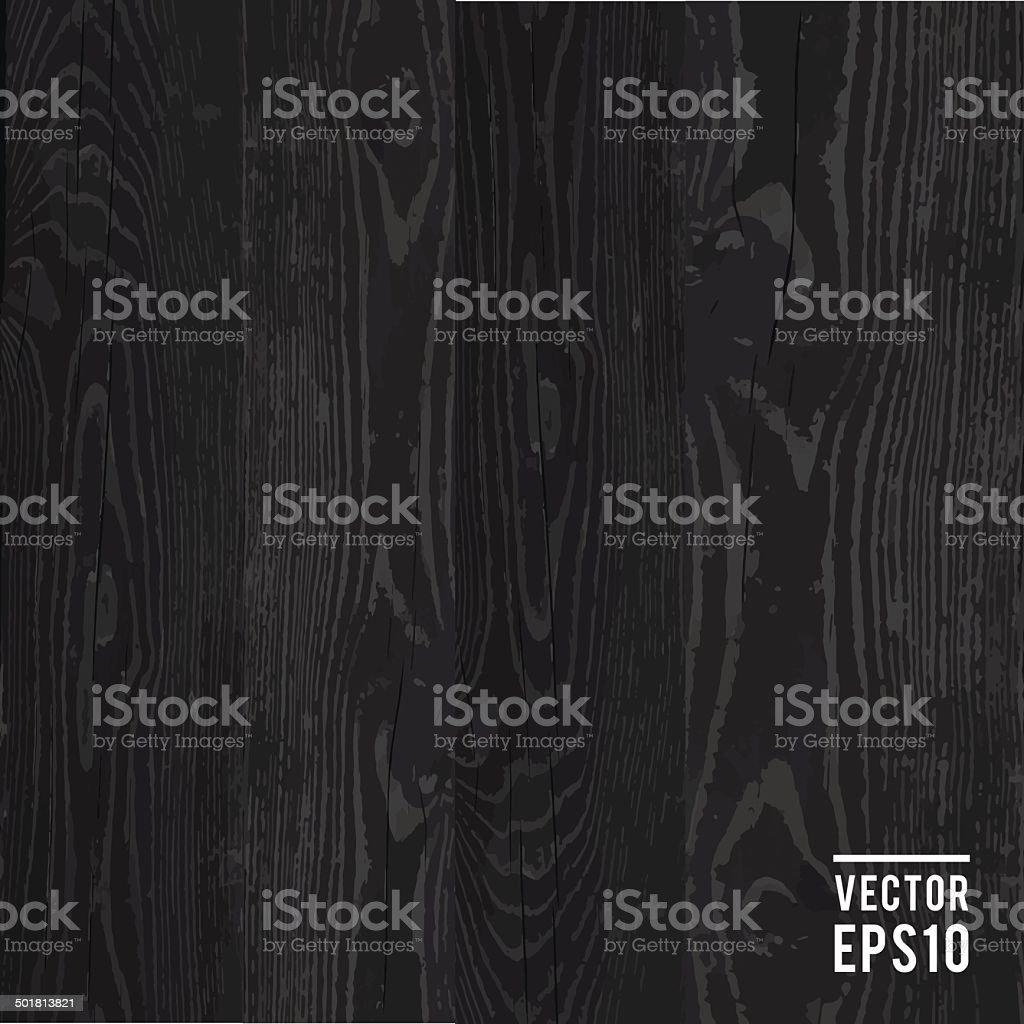 black vector wooden background
