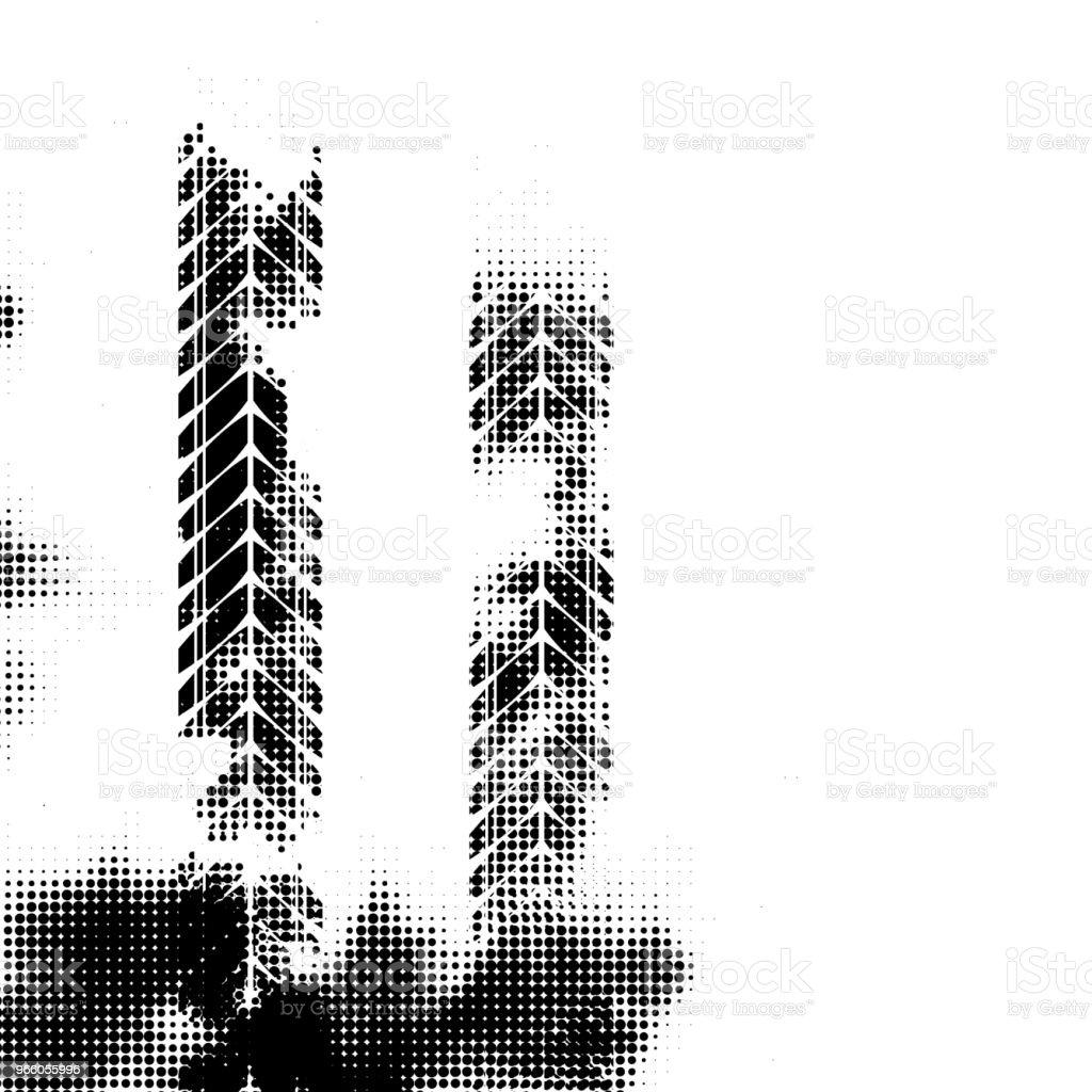 Svarta vertikala halvton däck spår - Royaltyfri Abstrakt vektorgrafik
