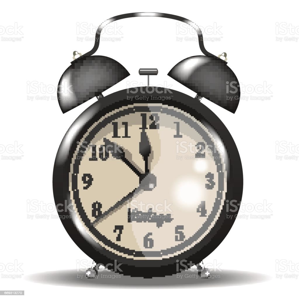 black vintage alarm clock vector royaltyfree stock vector art