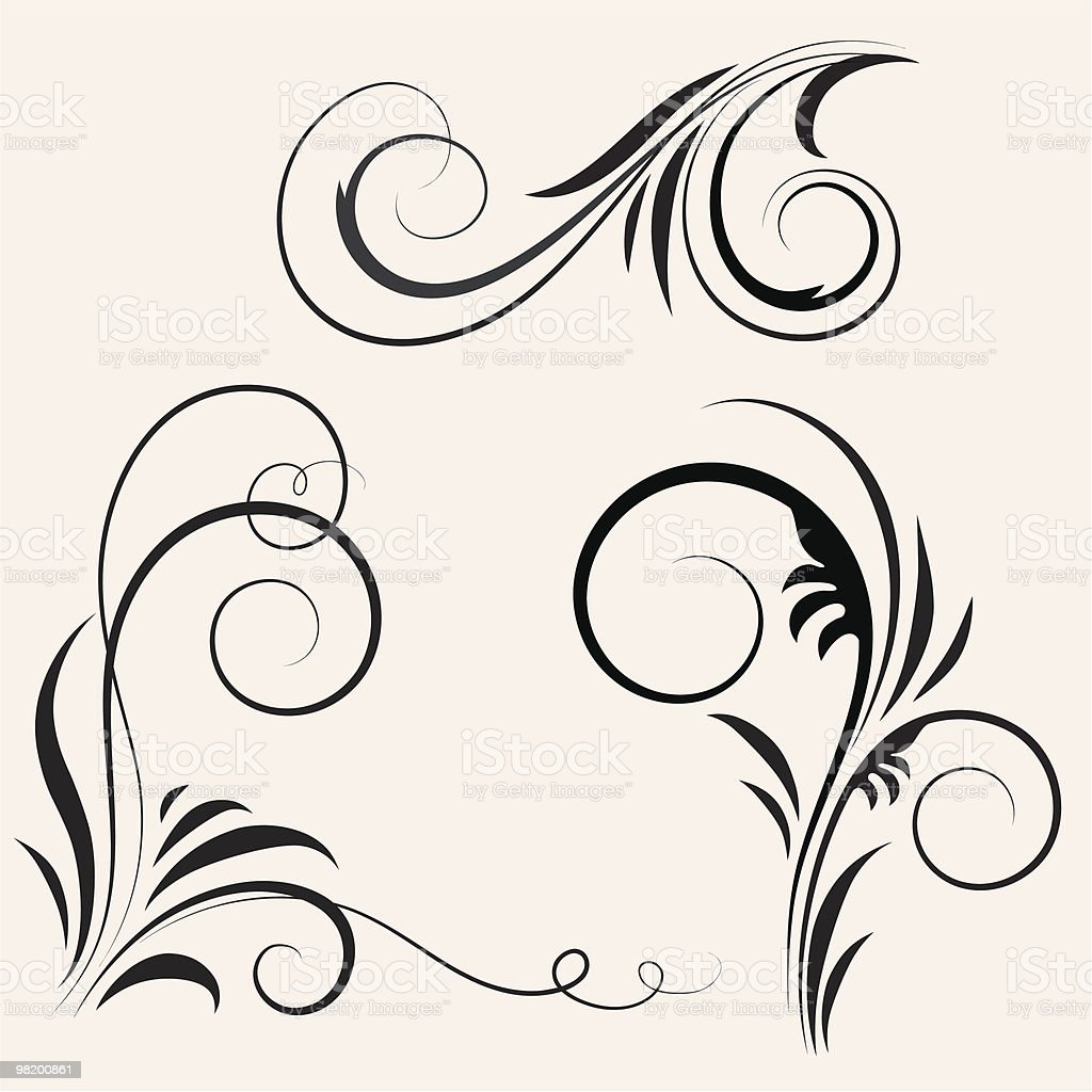 Black vintage design elements royalty-free black vintage design elements stock vector art & more images of abstract