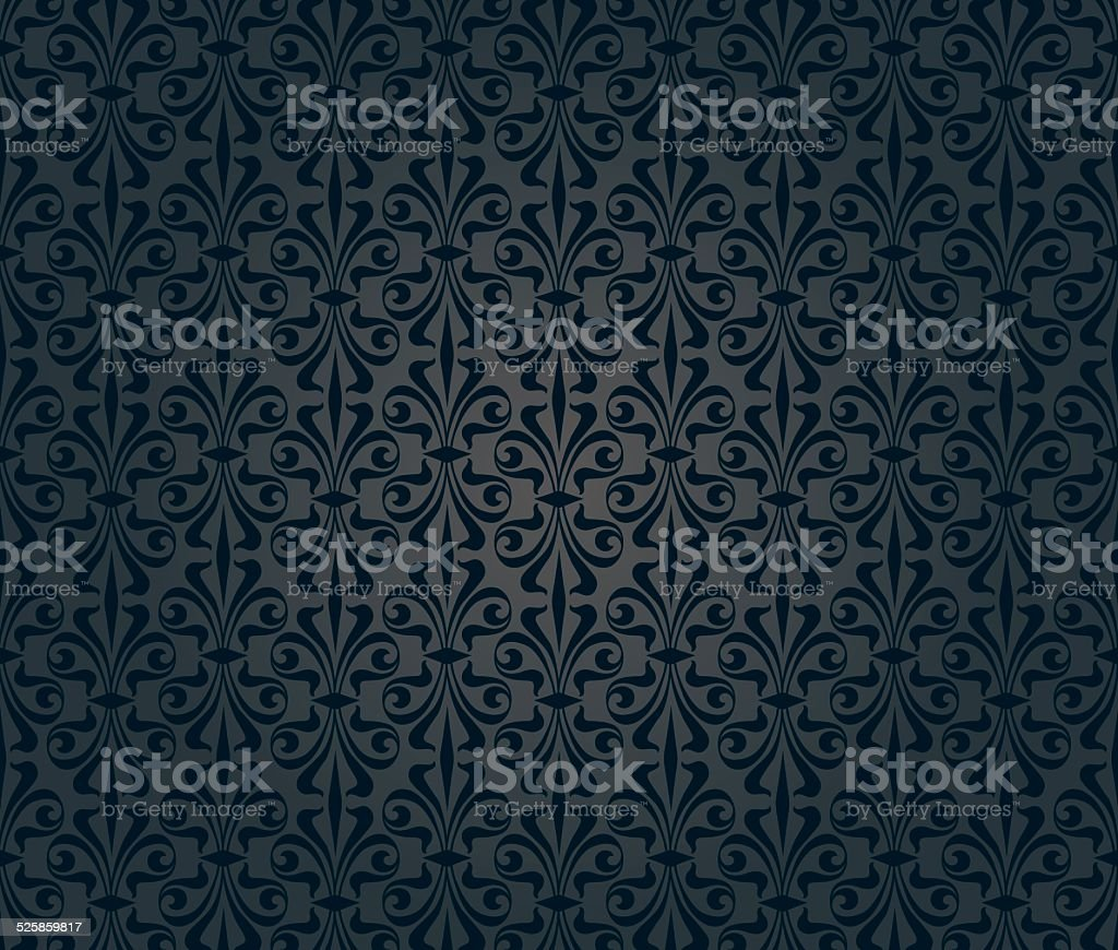 black vintage wallpaper background design vector art illustration