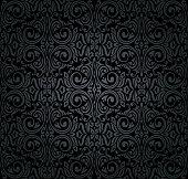 Black vintage decorative invitation wallpaper design