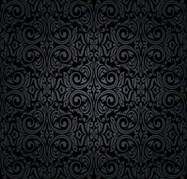 黑色復古壁紙 - 錦緞 幅插畫檔、美工圖案、卡通及圖標