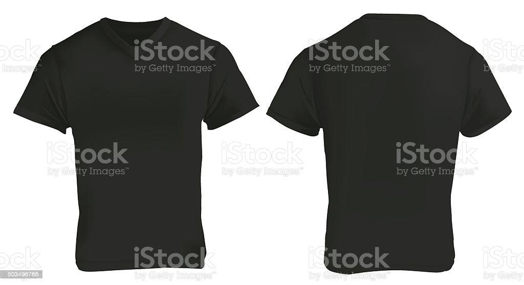 Black Vneck Shirt Design Template Stock Vector Art & More Images of ...