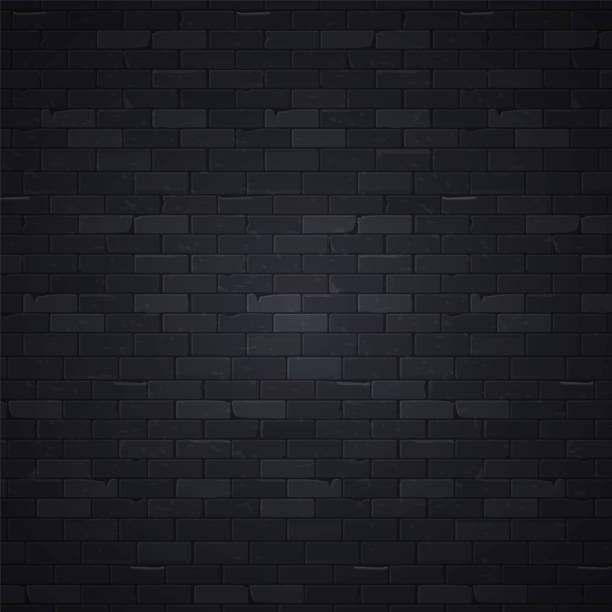 Black wall 1 vector art illustration