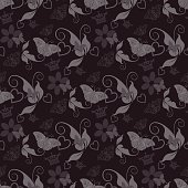black background in old style for your design, illustration vector: dark