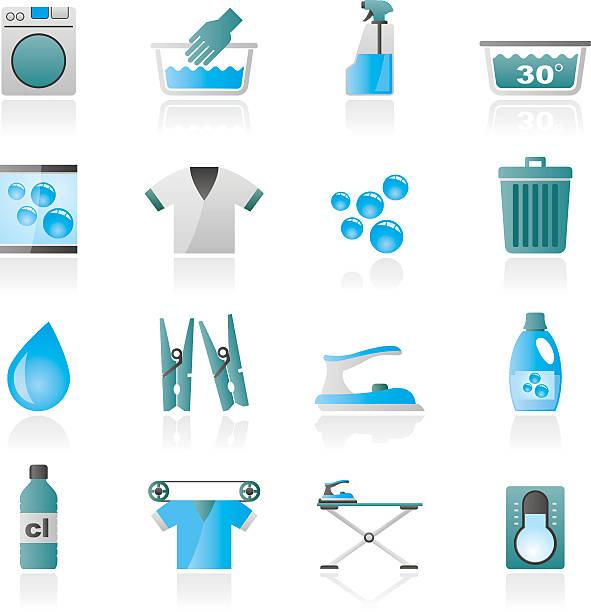 black waschmaschine waschmaschine und symbole - weichspüler stock-grafiken, -clipart, -cartoons und -symbole