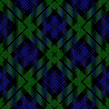 Black Watch Scottish Royal Tartan Plaid Textile Pattern