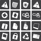 Black Web site and computer Icons