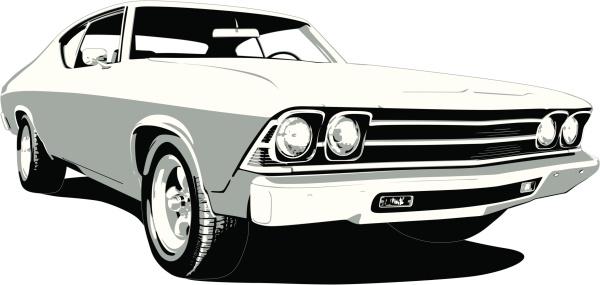 Black & White 1969 Chevelle SS
