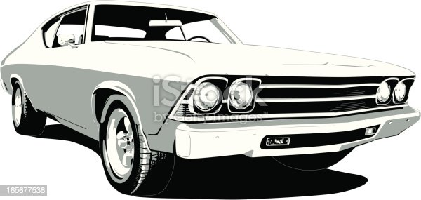 Vector Image of a 1969 Chevelle SS in layers for easy editing if needed.