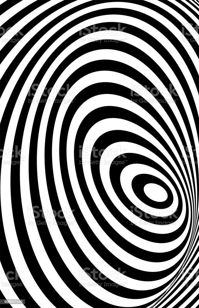 85853886d5 Negro 3d blanco línea ilusión de distorsión ilustración de negro 3d blanco  línea ilusión de distorsión