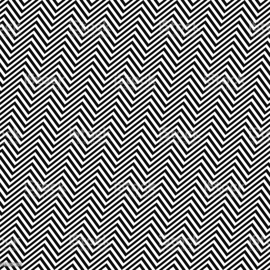 Schwarz Weiße Eckige Nahtlose Zickzack Muster Stock Vektor Art und ...