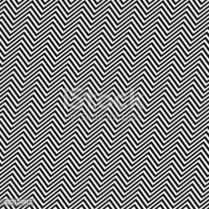 Black and white angular seamless zig zag line pattern
