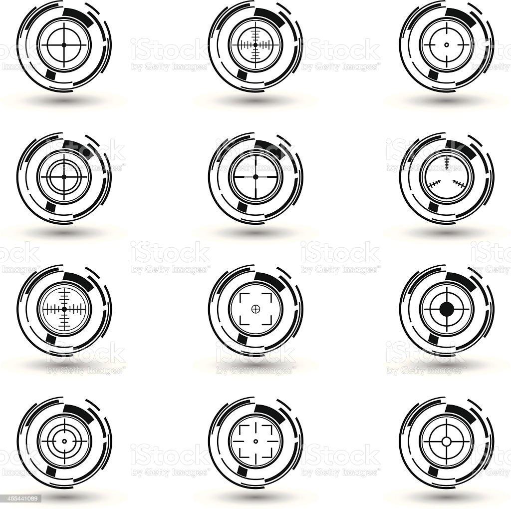 Black & white crosshairs set royalty-free black white crosshairs set stock vector art & more images of ak-47