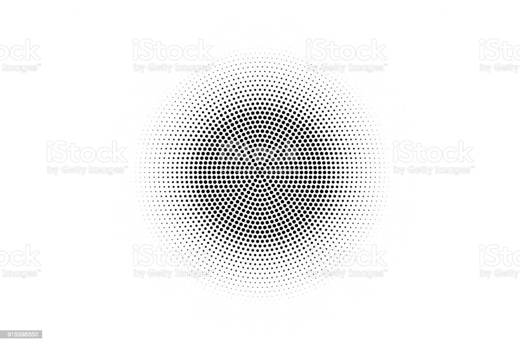 Black white dotted texture. Abstract halftone vector background. Monochrome halftone pop art design. - Royalty-free Abstrato arte vetorial