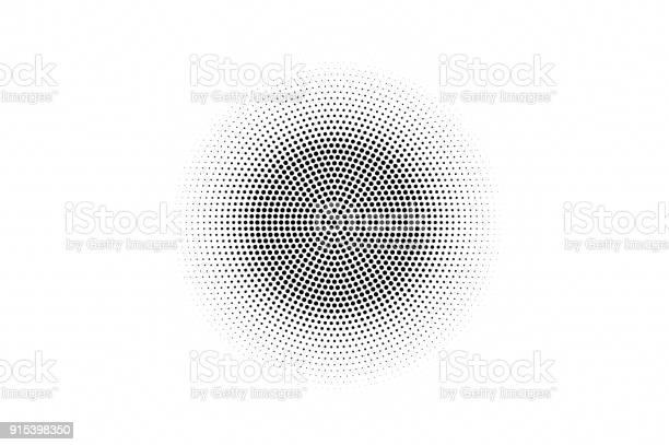 Black White Dotted Texture Abstract Halftone Vector Background Monochrome Halftone Pop Art Design - Arte vetorial de stock e mais imagens de Abstrato