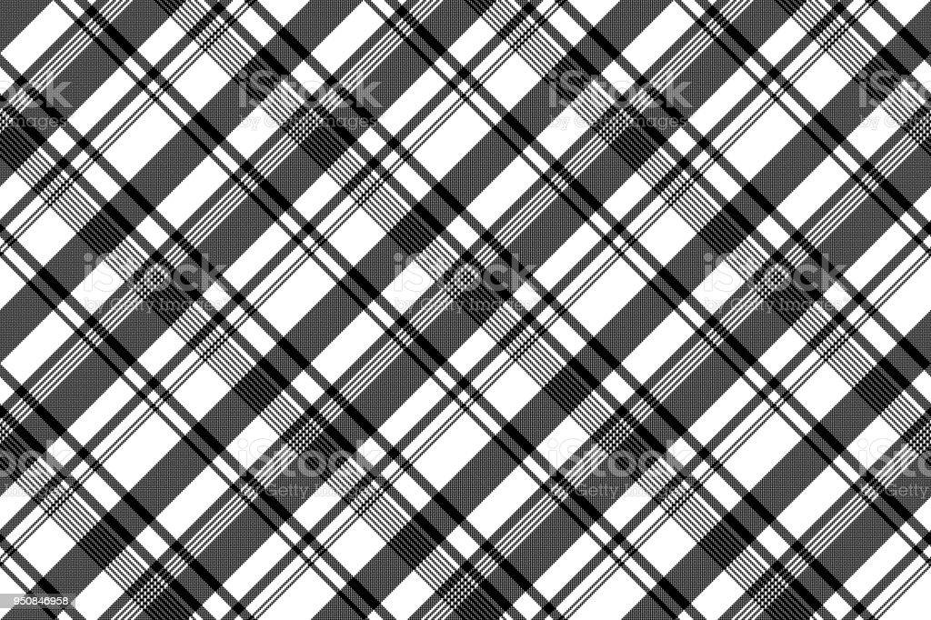 Modèle Sans Couture Asymétrique De La Pixel Texture Tissu Blanc Noir
