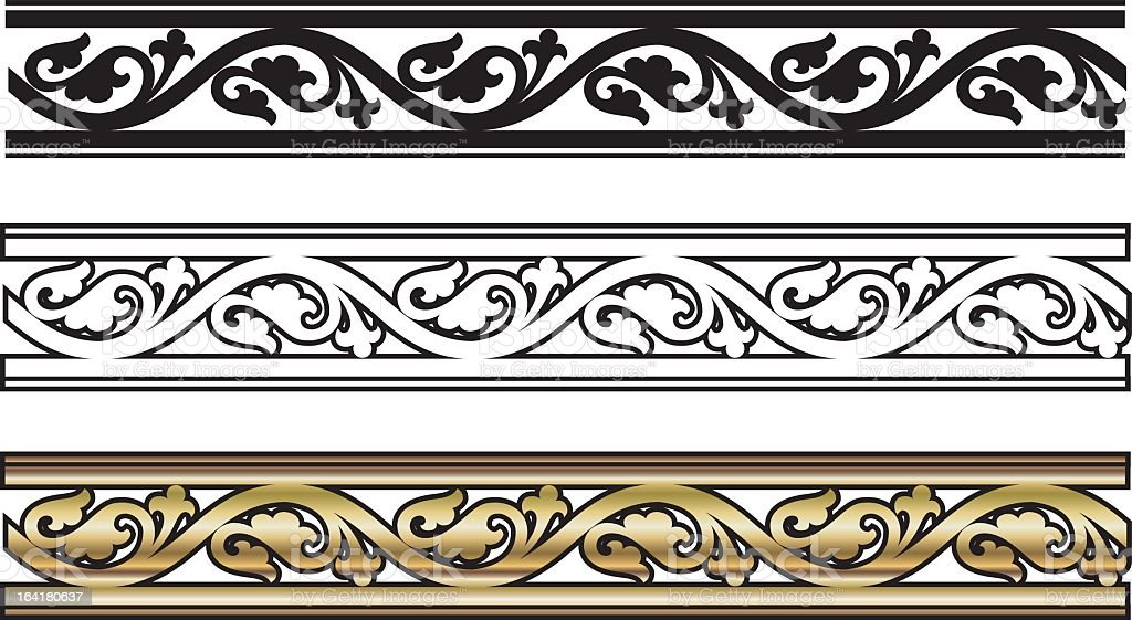 Black, white, & gold Victorian Style Design royalty-free stock vector art