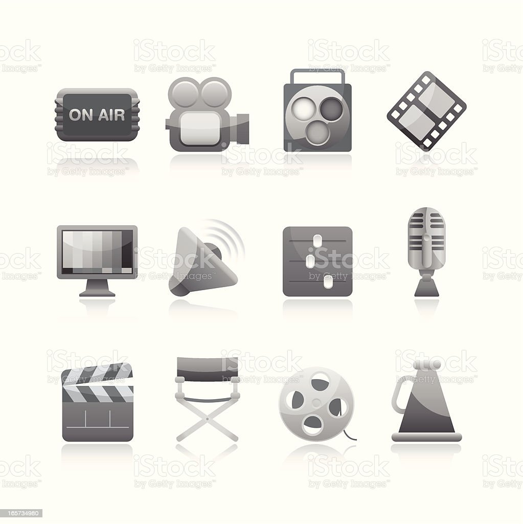 Black & White Icon - Filming royalty-free black white icon filming stock vector art & more images of art
