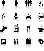 Black & White Icons Set | Shopping Mall