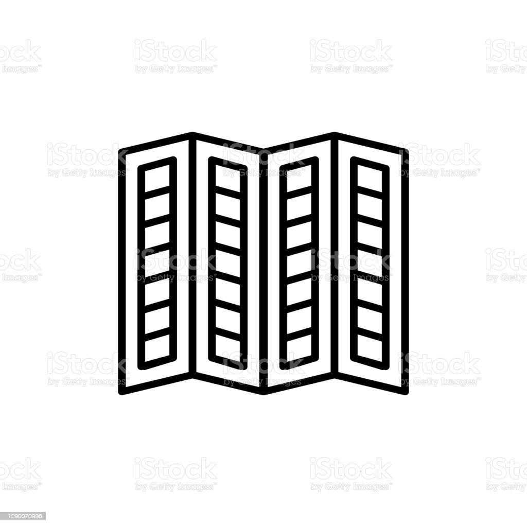 Black White Illustration Of Old Louver Window Shutter Vector