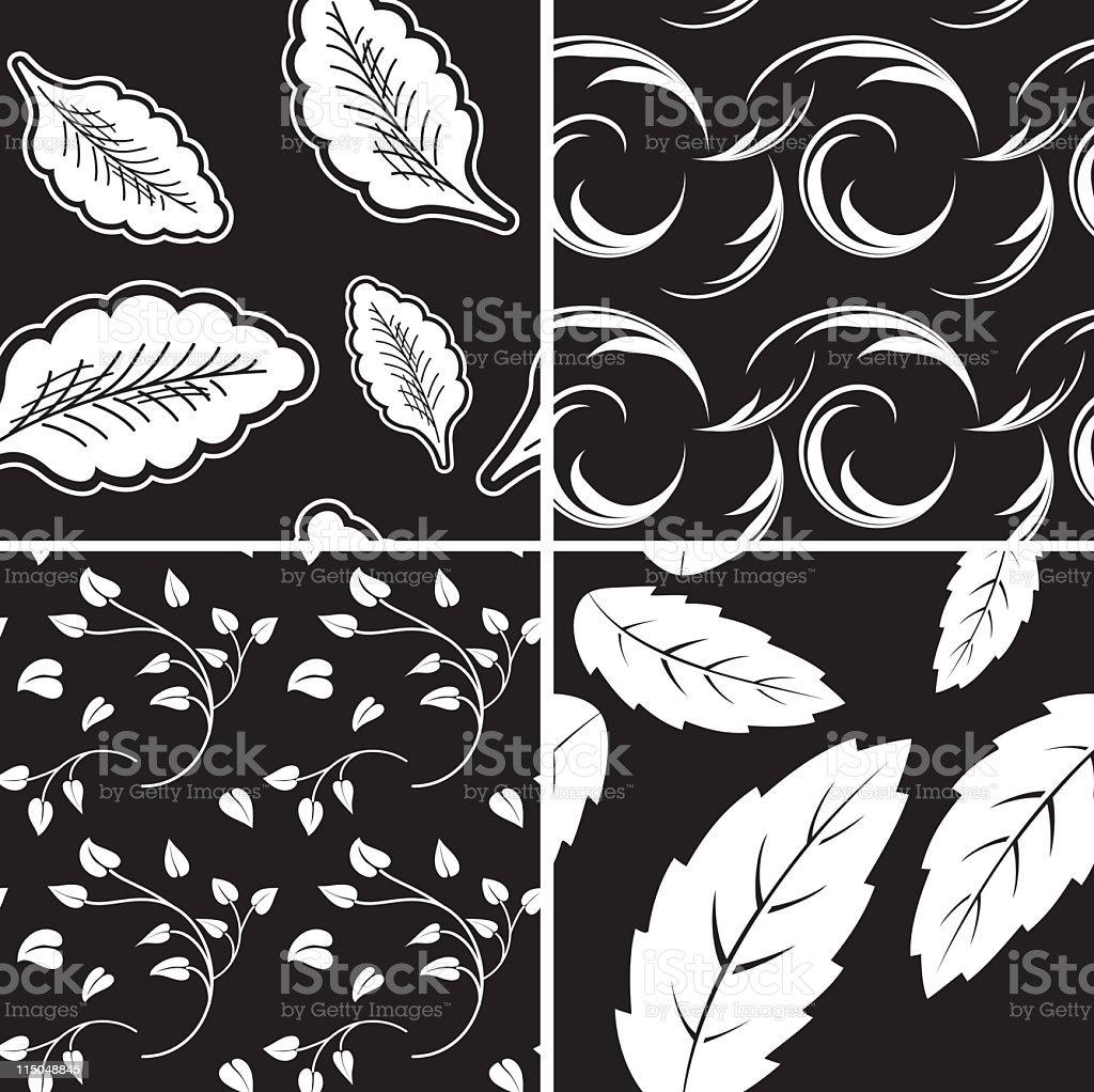Foglie Sfondo Bianco Nero Immagini Vettoriali Stock E Altre