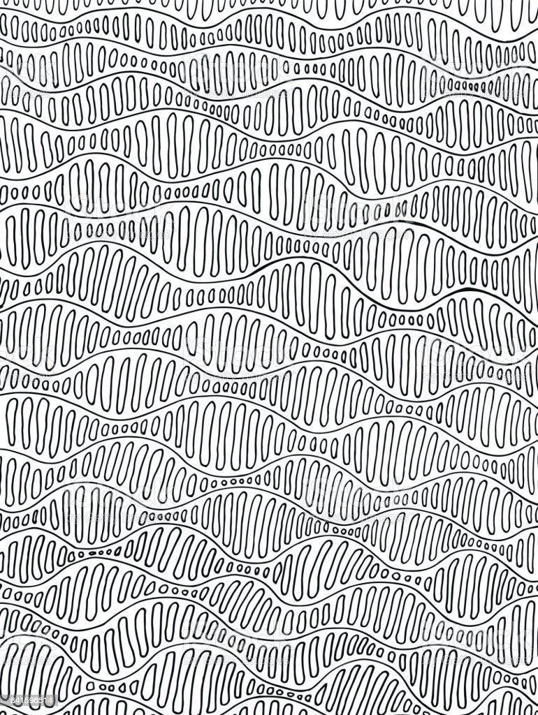 Schwarz Weiße Psychedelischen Hintergrund Dekorative Linien Und ...