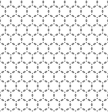 black & white seamless pattern with polygons & triangles