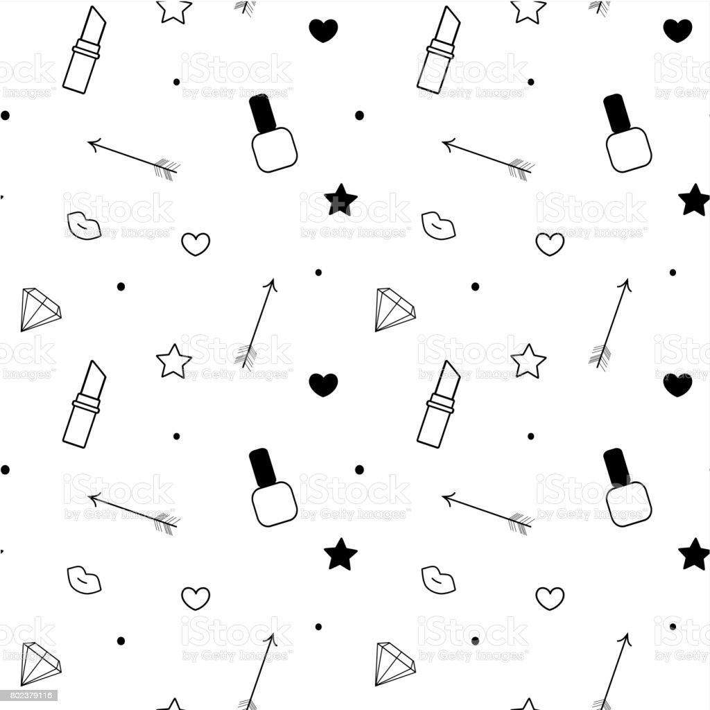 Schwarz Weiß Nahtlose Muster Hintergrund Vektorgrafik Mit ...