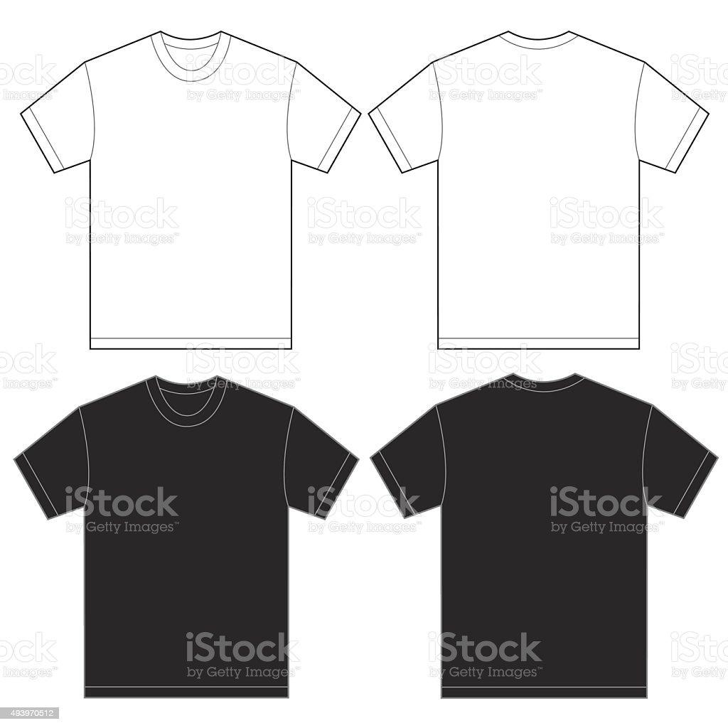 Ilustración de Plantilla De Diseño De Camiseta En Blanco Y Negro ...