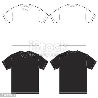 Plantilla de diseño de camiseta en blanco y negro para hombres