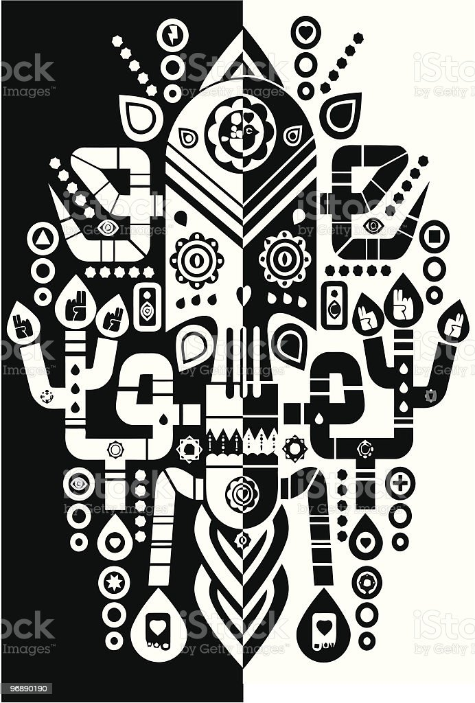 Black & White royalty-free black white stock vector art & more images of abstract