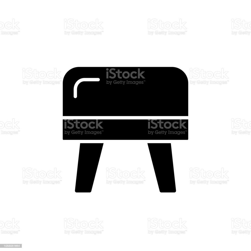Remarkable Black White Vector Illustration Of Cube Leather Ottoman Pouf Inzonedesignstudio Interior Chair Design Inzonedesignstudiocom