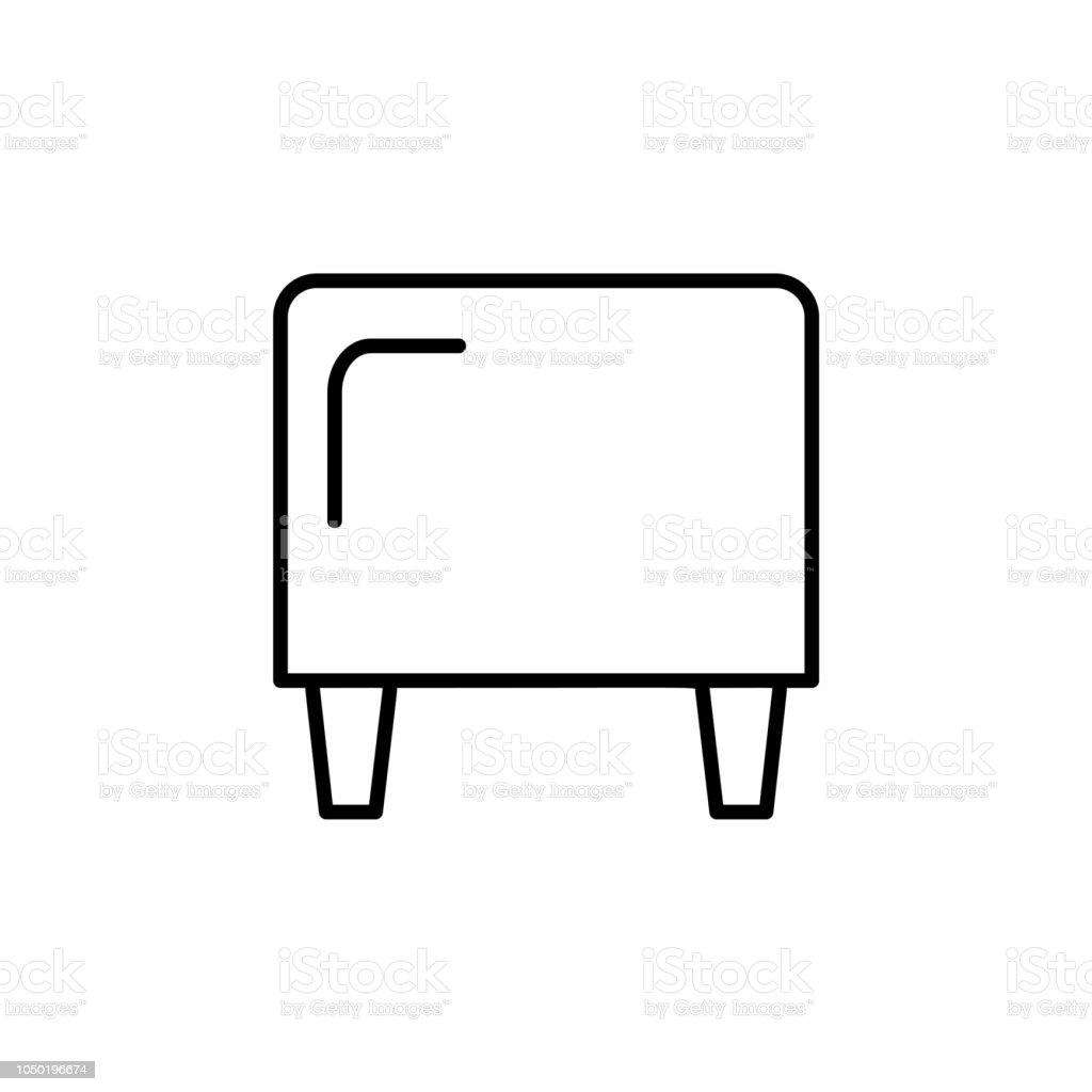 Awesome Black White Vector Illustration Of Cube Leather Ottoman Pouf Inzonedesignstudio Interior Chair Design Inzonedesignstudiocom
