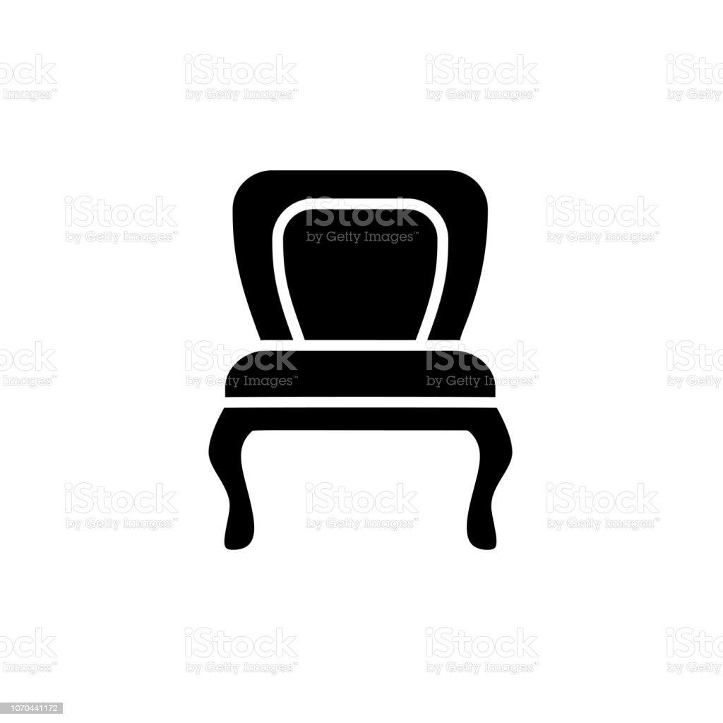 Blanco Silla Y Ilustración De Vector Negro ukPXZi