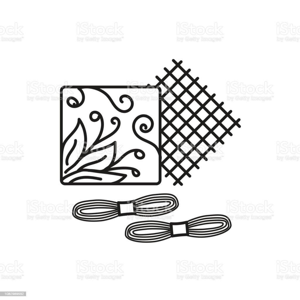 Royalty Free Embroidery Floss Clip Art Vector Images