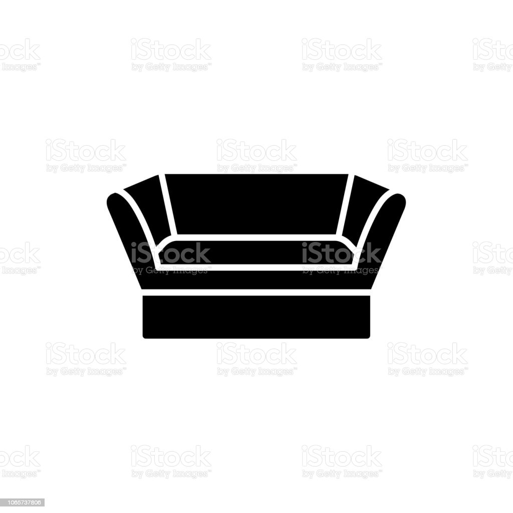 Excellent Black White Vector Illustration Of Knole Vintage Sofa Flat Onthecornerstone Fun Painted Chair Ideas Images Onthecornerstoneorg