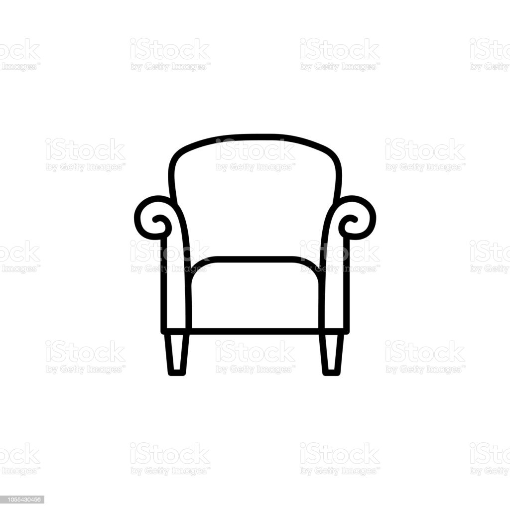 Miraculous Black White Vector Illustration Of Retro Style Armchair With Home Remodeling Inspirations Basidirectenergyitoicom