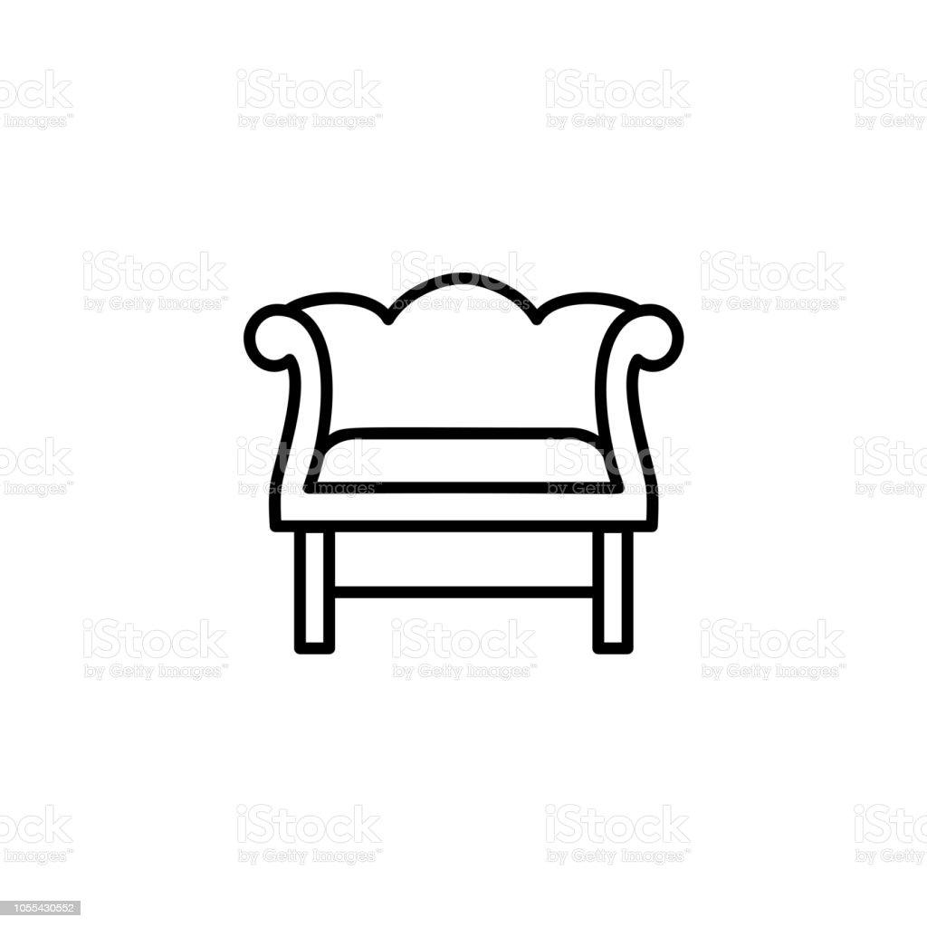 Illustration De Vecteur Noir Blanc Rtro En Bois Fauteuil Avec Dossier Haut Dcoratif