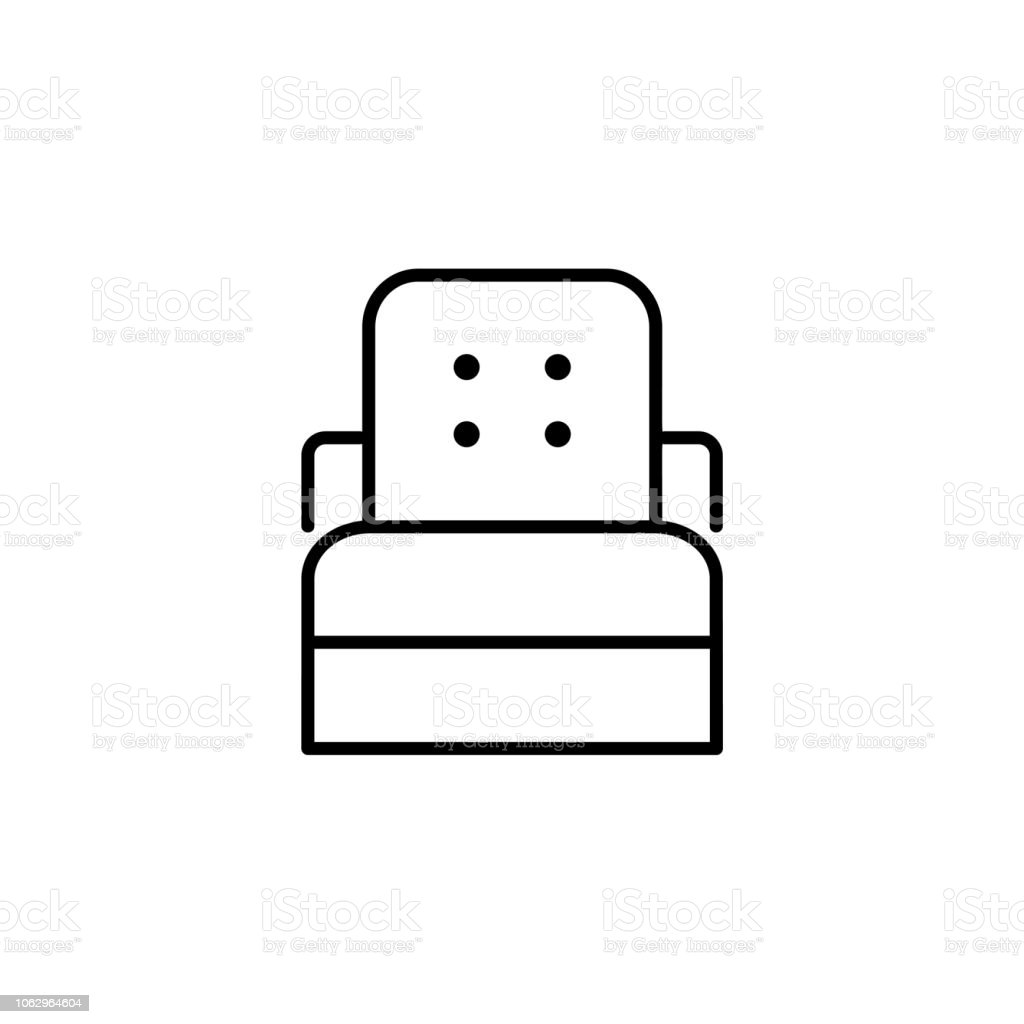 Strange Black White Vector Illustration Of Sleeper Convertible Chair Inzonedesignstudio Interior Chair Design Inzonedesignstudiocom