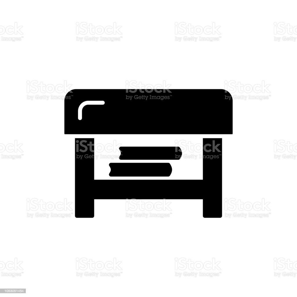 Fantastic Black White Vector Illustration Of Square Ottoman Flat Icon Cjindustries Chair Design For Home Cjindustriesco