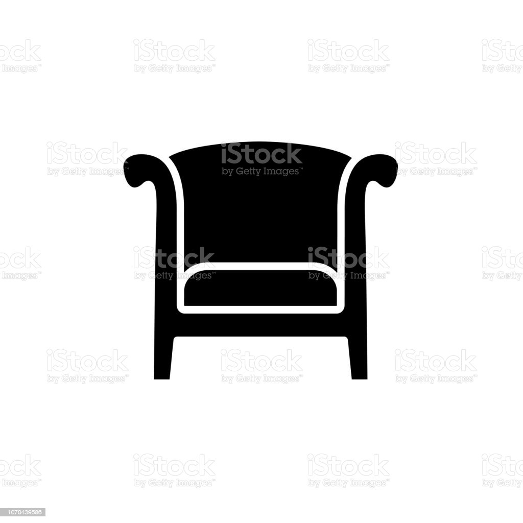 Awesome Black White Vector Illustration Of Vintage Wooden Armchair Home Remodeling Inspirations Genioncuboardxyz