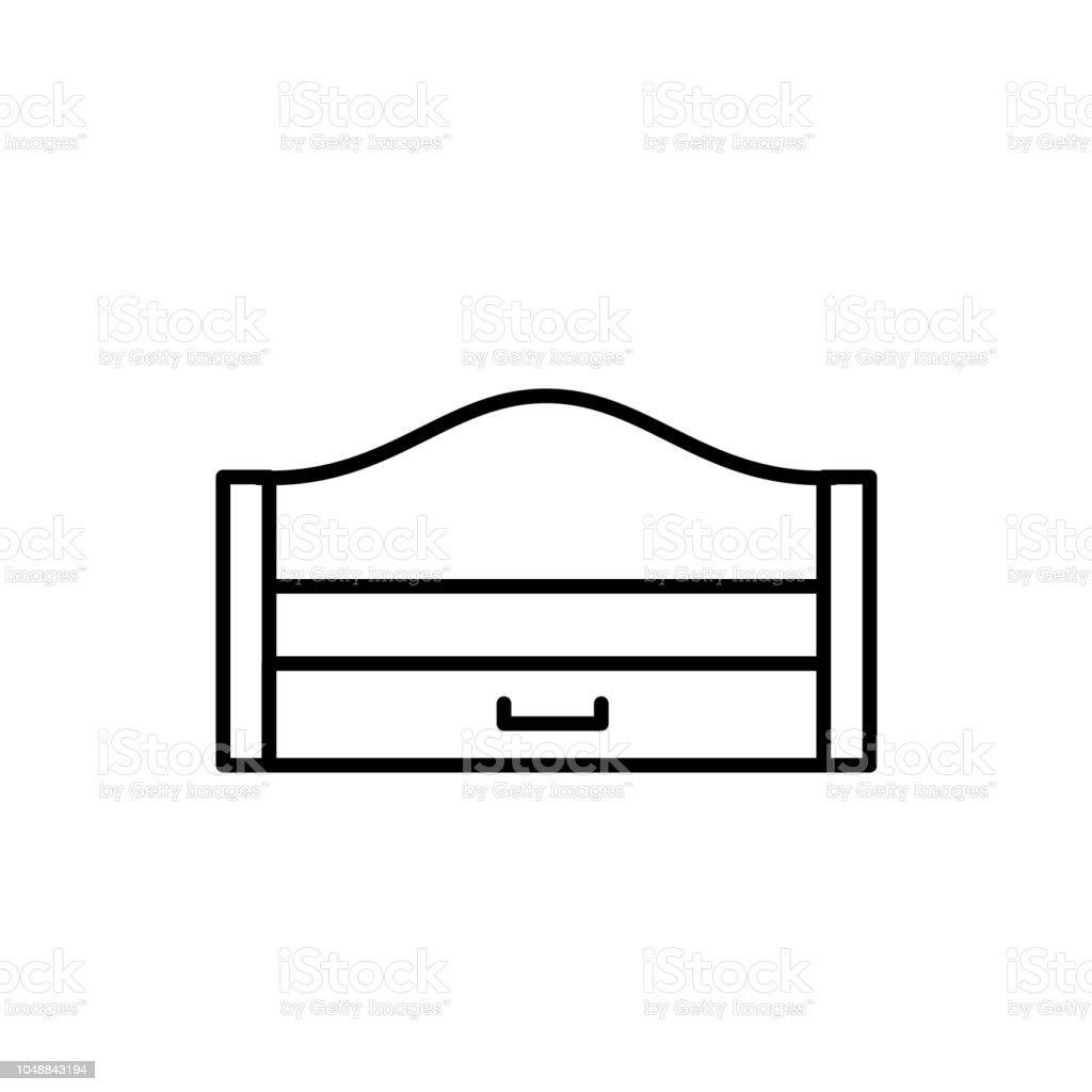 Black White Vector Illustration Of Wooden Pullout Sleeper Modern