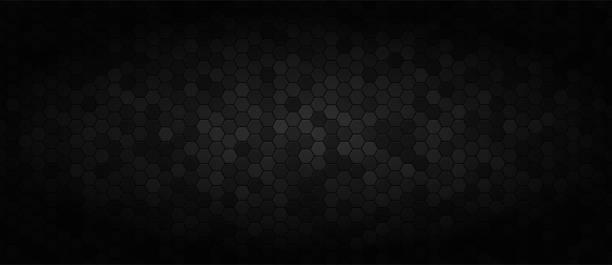 czarne szerokie tło technologiczne - ciemny stock illustrations