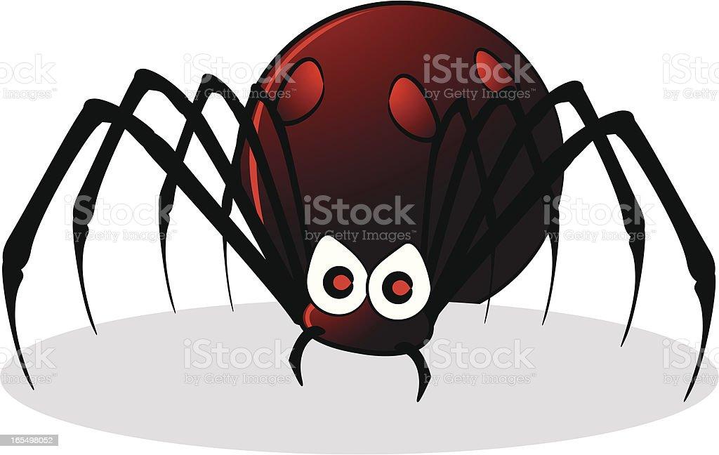 Black Widow Cartoon royalty-free stock vector art