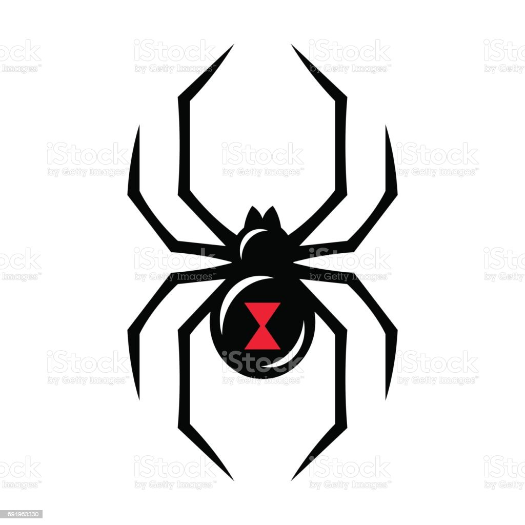 royalty free black widow spider clip art vector images rh istockphoto com clip art spider image clip art spider 8 shoes