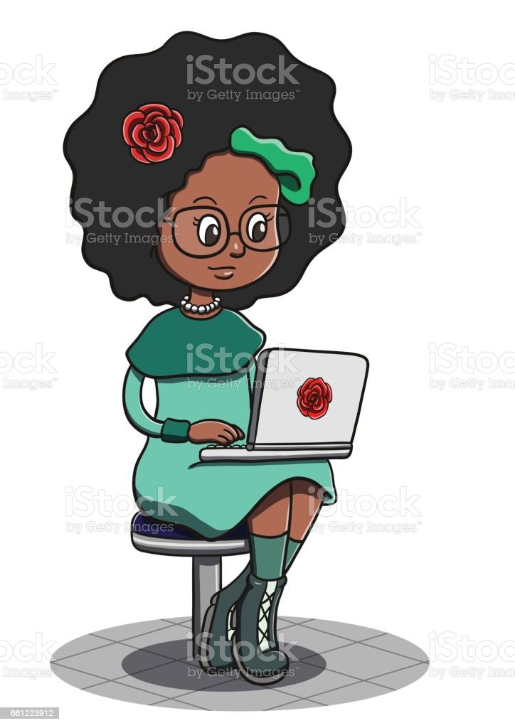 royalty free african american woman writing clip art vector images rh istockphoto com