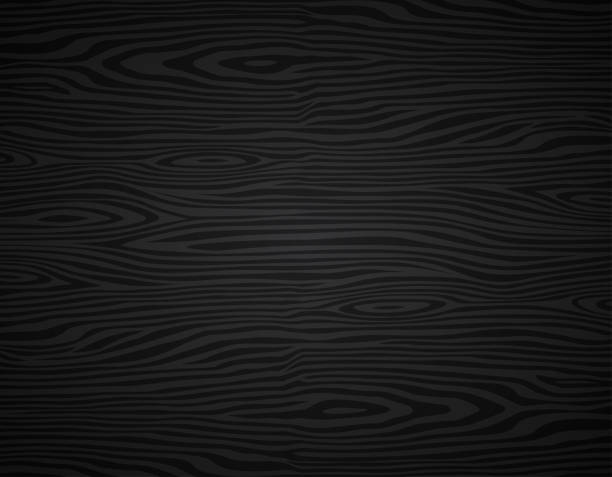 black wood background texture design vector art illustration